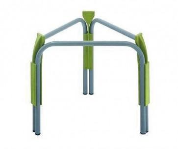 Piedistallo in acciaio Cordivari VINOLIO-JOLLY 75-100 diametro 420 H 320 supporto per contenitori alimentari