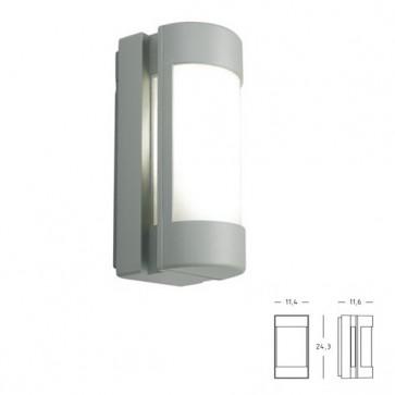 Applique/Plafoniera con Apertura Laterale Art. 413/72 Grigio/Alluminio