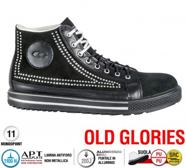 Scarpe antinfortunistiche Cofra POINT S1 P SRC taglie dal 36 al 41  Linea OLD GLORIES