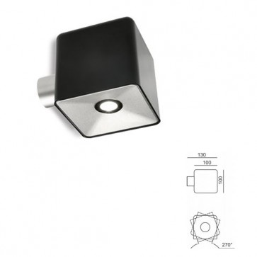 Punto Luce con led Art. 99628/06 Nero