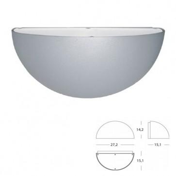 Applique Quarto di Sfera Art. 490/72 Grigio/Alluminio