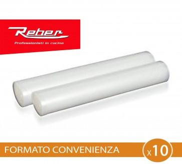 Sacchetti goffrati per sottovuoto Reber 30x600 2 ROTOLI 6725 Fino a 10 pezzi