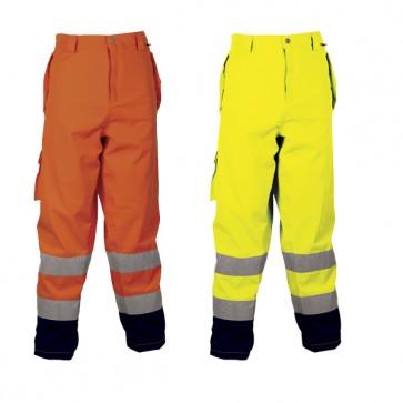 Copri Pantalone Cofra Imbottito Lavoro Antifortunistica Reflex Fluo