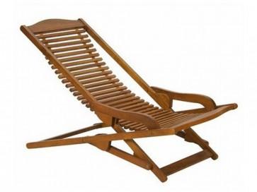 Sedia Sdraio in legno VIP 105x61x78h per montagna spiaggia mare