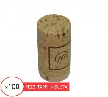 Tappo sughero agglomerato birondellato 24x45 per bottiglie vino ENOLOGIA 100 PZ
