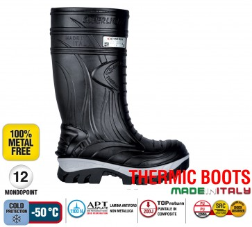 Stivale Termico Gomma Cofra THERMIC BLACK S5 HRO CI SRC THERMIC BOOTS