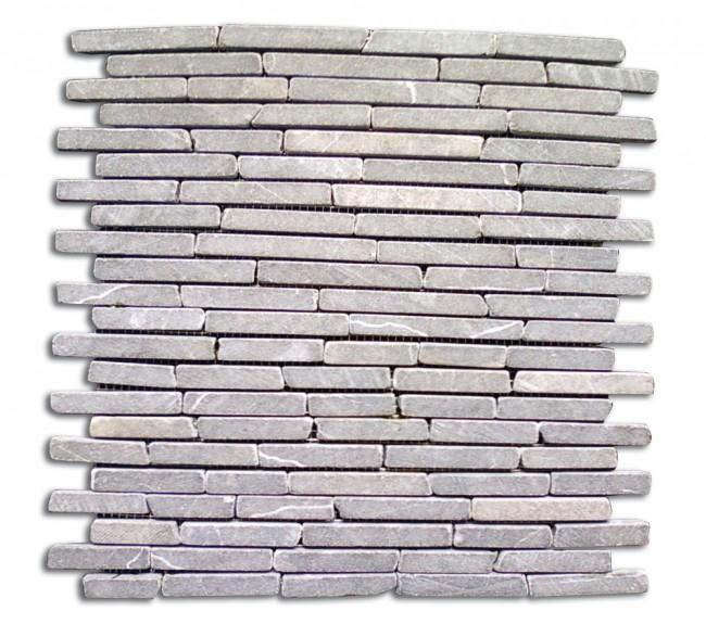 Mosaico pietra naturale supporto in rete GRIGIO MATTONI piastrelle ...