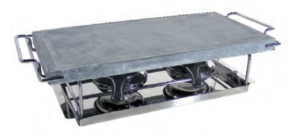 bistecchiera pietra ollare lavica con fornellino cm 19x37 grill da tavolo