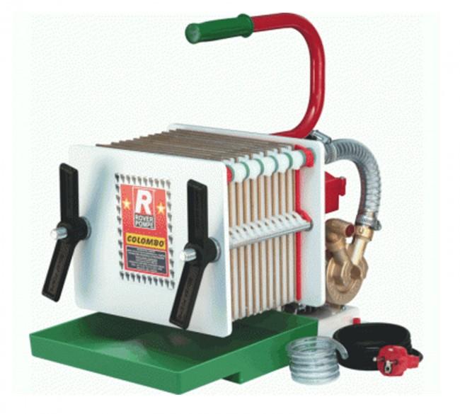 Pompa con filtro enologico rover colombo 12 a piastre e for Pompa x laghetto con filtro