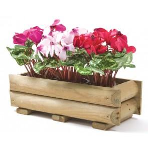 Fioriera in legno pino esterno 60x25x19 o 70x25x19 cassetta piante fiori