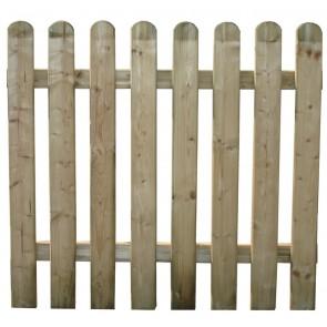 Cancello Steccato Recinto Legno Pino ELA ALTO cm 100x100 h