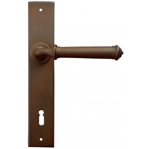 Maniglia Classica per Porta in ferro battuto Galbusera Art.1900 antichizzata ruggine