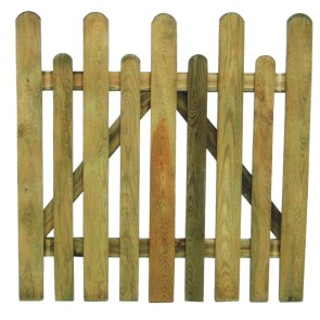 Cancello Steccato Recinto Legno Pino cm 100x100 h