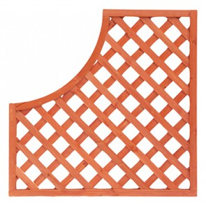 Pannello Grigliato Sagomato 90x90 angolo destro per recinti giardini terrazzi