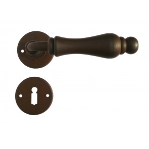 Maniglia Classica per Porta in ferro battuto Galbusera Art.2501/3-10 Ruggine