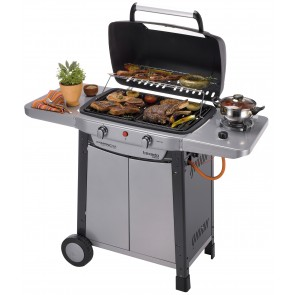 Barbecue a GAS TEXADO DE LUXE in acciaio piano 56x34,5