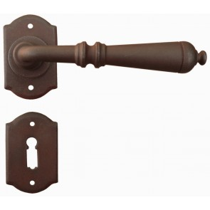 Maniglia Classica per Porta in ferro battuto Galbusera Art.2701 Ruggine