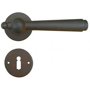 Maniglia Classica per Porta in ferro battuto Galbusera Art.2901 Ruggine