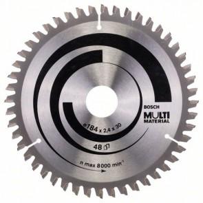 Bosch Lama per seghe circolari Multi Material 184 x 30 x 2,4 mm, 48