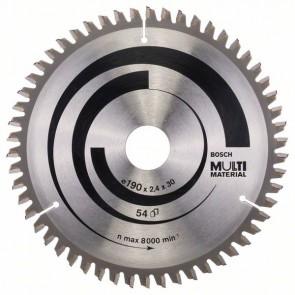 Bosch Lama per seghe circolari Multi Material 190 x 30 x 2,4 mm, 54