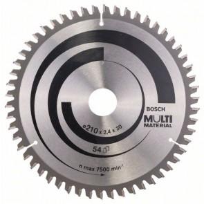 Bosch Lama per seghe circolari Multi Material 210 x 30 x 2,4 mm, 54