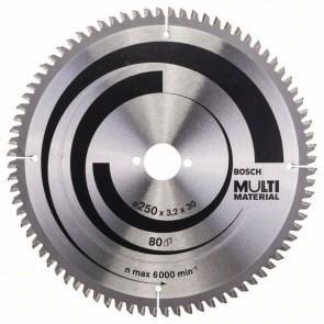 Bosch Lama per seghe circolari Multi Material 250 x 30 x 3,2 mm, 80