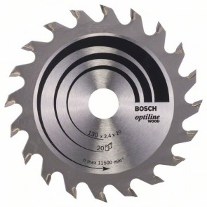 Bosch Lama per sega circolare Optiline Wood 130 x 20/16 x 2,4 mm, 20