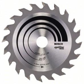 Bosch Lama per sega circolare Optiline Wood 140 x 20/12,7 x 2,4 mm, 20