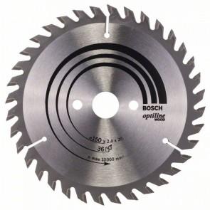 Bosch Lama per sega circolare Optiline Wood 150 x 20/16 x 2,4 mm, 36