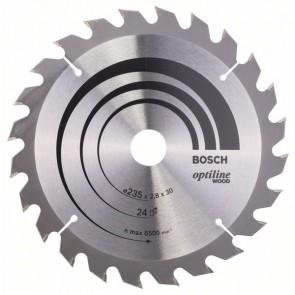 Bosch Lama per sega circolare Optiline Wood 235 x 30/25 x 2,8 mm, 24