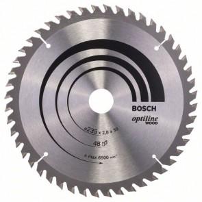 Bosch Lama per sega circolare Optiline Wood 235 x 30/25 x 2,8 mm, 48