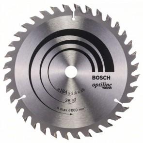 Bosch Lama per sega circolare Optiline Wood 184 x 16 x 2,6 mm, 36