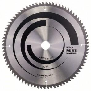 Bosch Lama per seghe circolari Multi Material 305 x 30 x 3,2 mm, 80