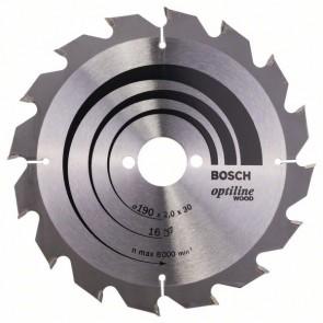 Bosch Lama per sega circolare Optiline Wood 190 x 30 x 2,0 mm, 16