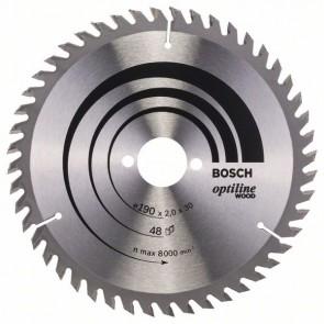 Bosch Lama per sega circolare Optiline Wood 190 x 30 x 2,0 mm, 48