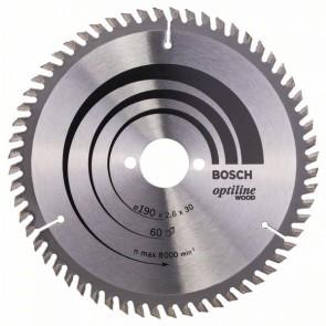 Bosch Lama per sega circolare Optiline Wood 190 x 30 x 2,6 mm, 60