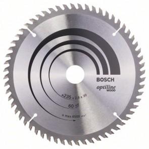 Bosch Lama per sega circolare Optiline Wood 235 x 30/25 x 2,8 mm, 60