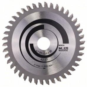 Bosch Lama per seghe circolari Multi Material 130 x 20/16 x 2,0 mm, 42