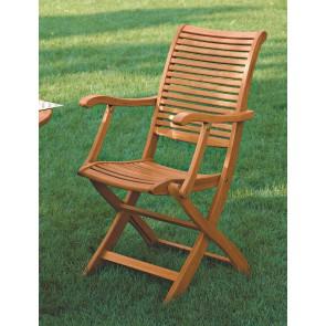 Poltrona Pieghevole legno balau 63x50x95 per esterno giardino
