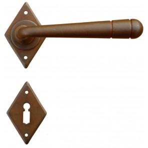 Maniglia Classica per Porta in ferro battuto Galbusera Art.4-16 Ruggine