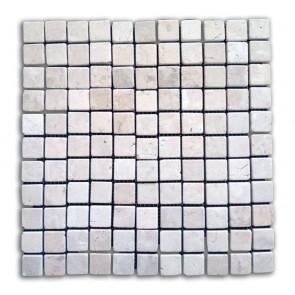 Mosaico pietra naturale supporto in rete AVORIO piastrelle 30x30 parete e muri