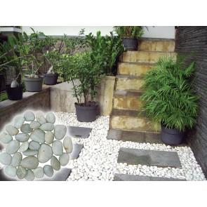 Ciottoli levigati 5 kg diametro 24-40 giardino pavimenti esterno pietre naturali