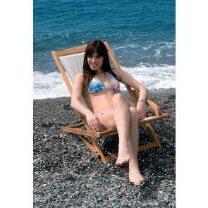 Sedia Sdraio in legno EMI 115x78x62h per montagna spiaggia mare