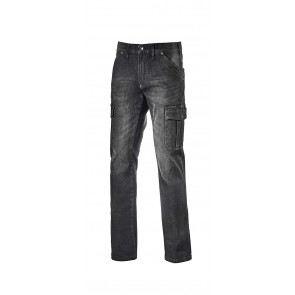 Diadora Utility Pantalone PANT.CARGO STONE ISO 13688:2013 NEW BLACK WASHING da 28 a 38