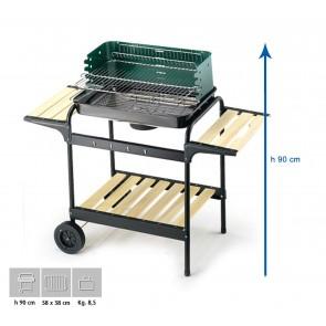 Barbecue Carbone Ompagrill 60-40 Green/W Altezza 90 cm Misure 58x38 cm SERIE GREEN-LINE