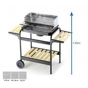 Barbecue Carbone Ompagrill 60-40 Green/X Altezza 90 cm Misure 58x38 cm  SERIE GREEN-LINE