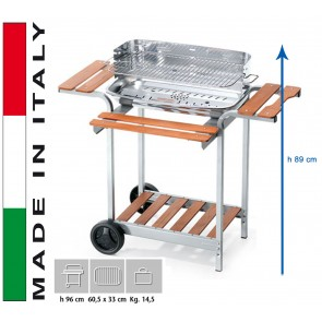 Barbecue Carbone Ompagrill Barbecue 60-40 Pro h 96 misure 60,5x33