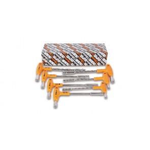 Beta ?Serie di 5 chiavi a pipa esagonali-poligonali con impugnatura di manovra 941/S5