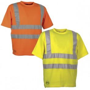 Maglietta Lavoro Antifortunistica Cofra Alert Fluo