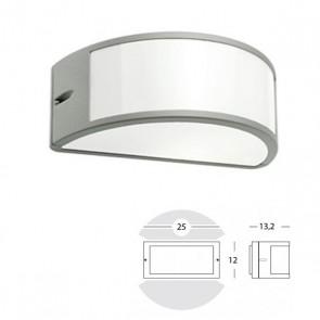 Applique Mezza Luna Aperta Art. 473/72 Grigio/Alluminio/Corten